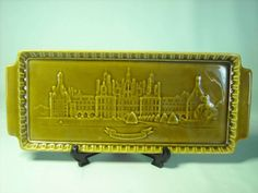 Gien French Sandwich Plate Tray  13.5  x 5.5  Chateau de Chambord France