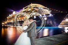 Hochzeit Mein Schiff 3 - Karibik - Barbados by night - Hochzeitsfoto