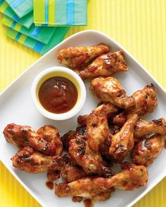 Brown-Sugar Barbecue Chicken Drumettes Recipe