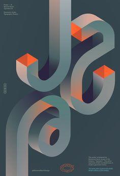 Type Tuesday: Geometric Arabic Typographic Bliss Typo Poster, Typographic Poster, Typographic Design, Typography Logo, Lettering, Web Design, Game Design, Layout Design, Poster Design Inspiration