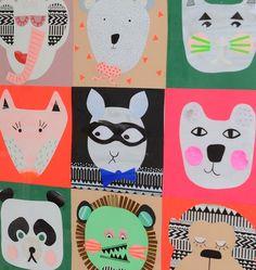 #DIY Zelf kleurrijke collage voor op #kinderkamer maken | leizyb