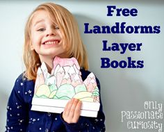 Fun and interactive Landforms Layer Books.  #ScienceIsFun #FunWithScience #Landforms #Freebie