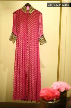 Faabiiana showcases elegant semi bridal pieces at monsoon Silk Kurti Designs, Kurta Designs Women, Kurti Designs Party Wear, Pakistani Dresses, Indian Dresses, Indian Outfits, Anarkali Dress, Dress Neck Designs, Blouse Designs