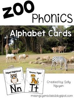 Looking for cute zoo animal posters to display the alphabet and help students identify letters and sounds? This is the alphabet posters for you! Zoo Animal Activities, Alphabet Activities, Toddler Activities, Teaching Letters, Learning The Alphabet, Alphabet Cards, Alphabet Posters, Prek Literacy, Literacy Centers