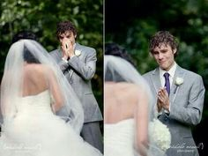 Reacción del novio al ver a la novia <3