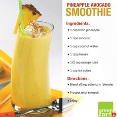 #Pineapple #Avocado #Smoothie #Recipe