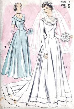 1950s Misses Wedding Dress or Bridesmaid Dress