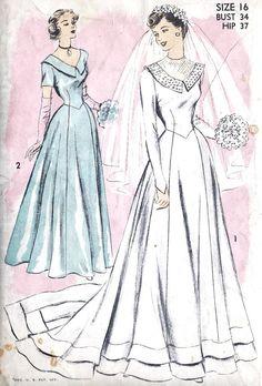 1950s Misses Wedding Dress or Bridesmaid Dress by MissBettysAttic, $48.00