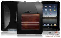 The LilyPad iPad case - It has a solar charger and battery that lasts for 12days; a whistle-locator if you lose  your iPad in the room; a stand; HDMI out; a USB-charger for your other devices; and a protective case!