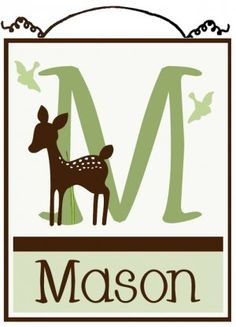 Personalized Willow Organic Deer Wood Letter Name Sign/Plaque Nursery Decor $25 personalized