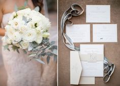 Orange County Wedding Planners Blog : Intertwined Events White wedding, white roses, bride bouquet, blue wedding