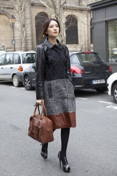 Chinese Actress Gao Yuan Yuan was in Paris a few weeks ago wearing next Fall 2013 Ready-to-Wear Collection.