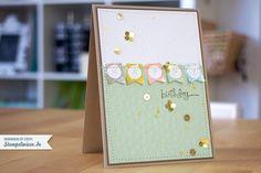 Geburtstagskarte mit Gold - Sale-A-Bration 2014