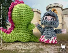 Funny Amigurumi by Pebie: New free pattern: Joanet, the dragon