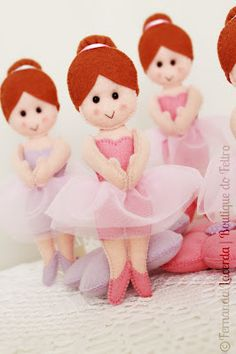 Sewing pattern for felt ballerina
