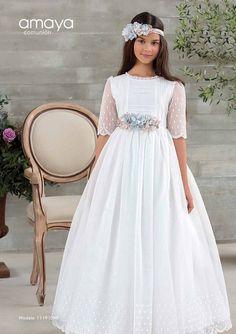 Girls Communion Dresses, Baptism Dress, Wedding Dresses For Girls, Birthday Dresses, Girls Dresses, Blush Flower Girl Dresses, Little Girl Dresses, Première Communion, First Communion