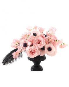 Wedding Colors: Black, White, and Pink