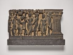 The Art Institute of Chicago, 111 South Michigan Avenue, Chicago, Illinois, 60603-6404 Pakistan Khyber Pakhtunkhwa Province, Ancient Gandhara The Birth and the First Seven Steps of the Buddha, Kushan period, c. 2nd/3rd century Phyllite 27.3 x 52.1 x 10.8 cm (10 3/4 x 20 1/2 x 4 1/4 in.) Samuel M. Nickerson Fund, 1923.315