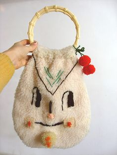 embroidered handbag, misako mimoko