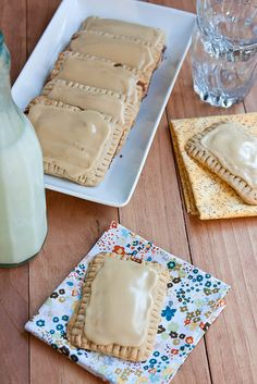 Pop-Tarts: Back to the Cutting Boards maple-cinnamon oat Pop-Tarts substitute healthier coconut oil for shortening, but the maple-cinnamon filling and maple frosting ensures that they will be a hit with your kids.  Source: Back to the Cutting Board