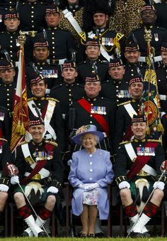 Queen Elizabeth II - Queen Elizabeth II Visits the Sutherland Highlanders