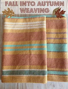 Check out Handwoven's autumn weaving patterns and get inspired by associate editor Christina's autumn color palettes!