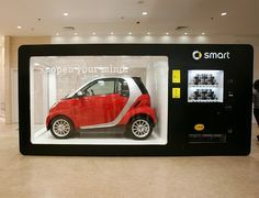 Smart vending machine (Shenyang, China). Red car