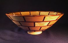 Segmented Bowl in Ash and Walnut by mbguest on Etsy, $100.00