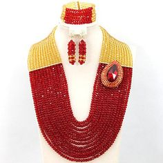 BST Luxury Nigerian African Wedding Beads Jewelry Set Red/Gold Crystal Bridal Costume Jewelry Set BST Wedding & Party Jewelry Set http://www.amazon.com/dp/B01A82TCR6/ref=cm_sw_r_pi_dp_YpuKwb0GAXERB