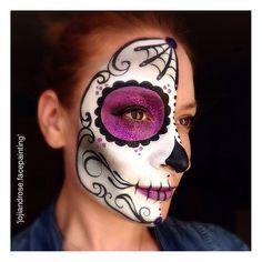 #halloween #sugar #skull www.instagram.com/jojiandrose.facepainting
