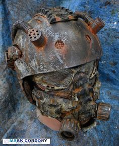 Post Apocalyptic Mad Max style helmet and mask for LARP - Airsoft Created by Mark Cordory Creations www.markcordory.com: