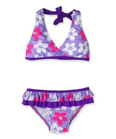 Look at this #zulilyfind! Purple Floral Bikini - Toddler & Girls by Jump'N Splash #zulilyfinds
