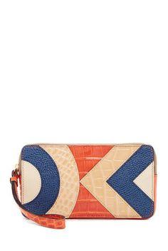 NWT Orla Kiely Large Zip Croc Embossed Leather Applique Wallet Wristlet $225 | Clothing, Shoes & Accessories, Women's Handbags & Bags, Handbags & Purses | eBay!