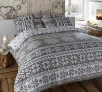 Bed linen in winter style
