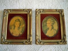 Vintage 1950s Framed 18th Century Rococo Ladies by BlackRain4, $34.99