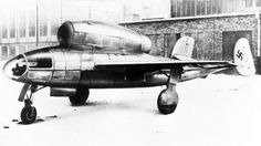 """Henschel's Hs 132 was a World War II dive bomber and interceptor aircraft [...] The unorthodox design featured a top-mounted BMW 003 jet engine (identical in terms of make and position to the powerplant used by the Heinkel He 162) and the pilot in a prone position. The Soviet Army occupied the factory just as the Hs 132 V1 was nearing flight testing, the V2 and V3 being 80% and 75% completed."""