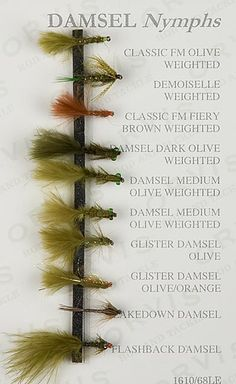 Pond Flies / Damsel Nymphs Selection -- Orvis UK