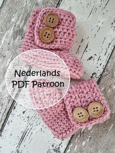 Patroon gehaakte baby booties, baby slofjes, baby schoentjes, baby uggs, Nederlands haakpatroon, crochet pattern, door Frisianknitting op Etsy