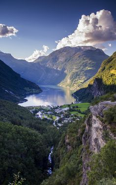Geiranger fiord Norway, Travel Inspiration, Laundry Hacks, River, Mountains, Nature, Outdoor, Laundry Tips, Outdoors