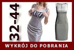 Beauty dress with contrast bodice free pattern