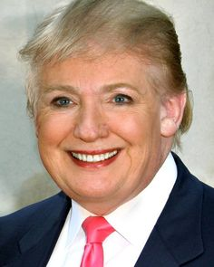 Donald Trump mixed with Hillary Clinton #gesichtermix Haha good grief