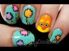 the lorax!! omg i saw this and stood up and screamed.... I LOVE THE LORAX (k ill b back going to paint my nails)