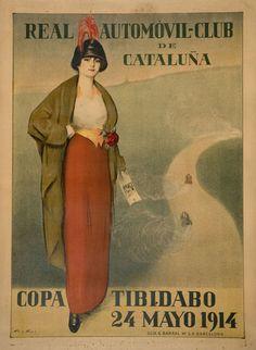 RAMON CASAS - Real Automóvil-Club de Cataluña. Copa Tibidabo - 1914