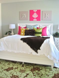 DIY...Fun Fresh, and Bright Pre Teen - Teen Bedroom Budget Makeover - by @Maria Salas Party Studio Rebecca & Shannon