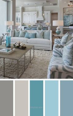Living room color schemes ideas will help you to add harmonious shades to your home which give variety and feelings of calm, You Need to Try This Year! Living Room Color Schemes, Living Room Colors, Bedroom Colors, Living Room Designs, Gray Color Schemes, House Color Schemes Interior, Coastal Living Rooms, Home Living Room, Living Room Decor