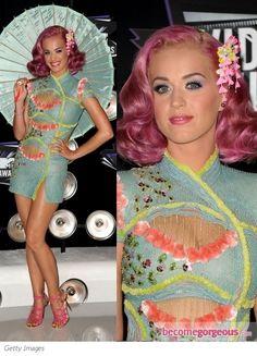 Katy Perry in Atelier Versace Asian Mini Dress