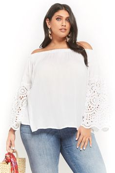 cbae4b1dd9 Product Name Plus Size Boho Me Off-the-Shoulder Top
