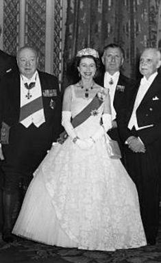 1955. Elisabeth II. von GB/ mit den Premierministern des Commonwealth