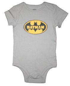 This vintage Batman logo onesie is everything. #baby #batman