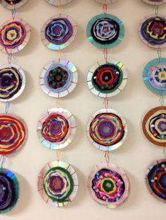 Recycled CD Weavings